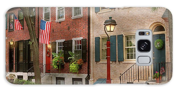 Galaxy Case featuring the photograph City - Pa Philadelphia - American Townhouse by Mike Savad