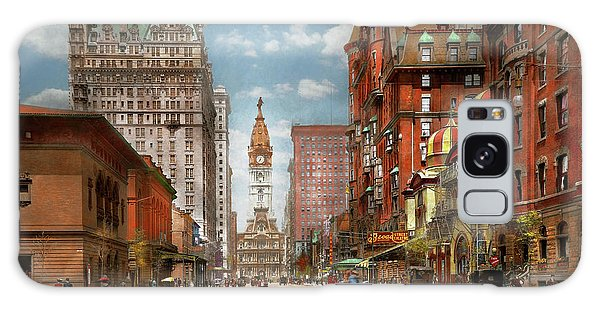 Galaxy Case featuring the photograph City - Pa Philadelphia - Broad Street 1905 by Mike Savad