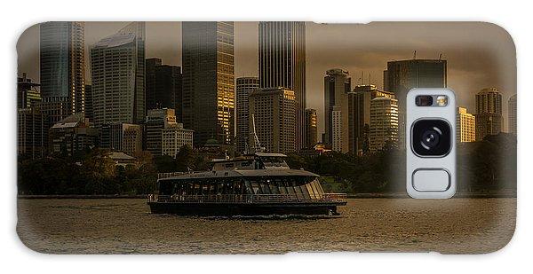 City Skyline  Galaxy Case by Andrew Matwijec