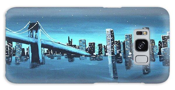 City Skyline Galaxy Case by Cyrionna The Cyerial Artist