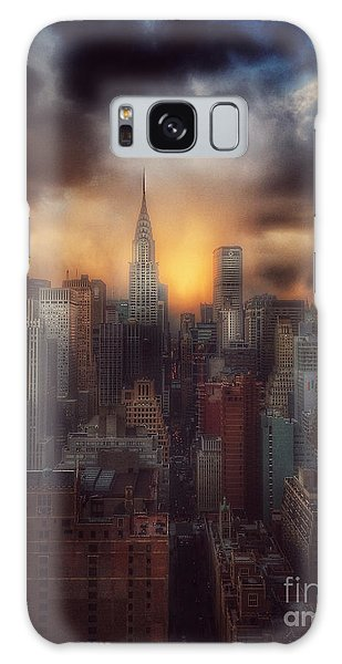 City Splendor - Sunset In New York Galaxy Case by Miriam Danar