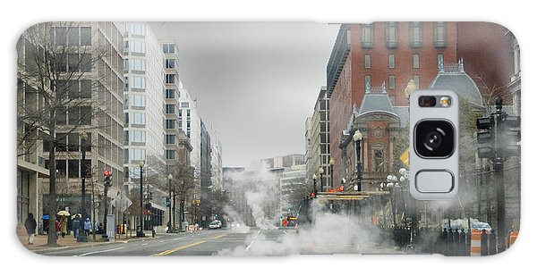 City Street On A Rainy Day Galaxy Case by Francesa Miller