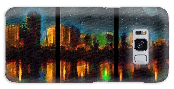 City Under A Blue Moon Galaxy Case