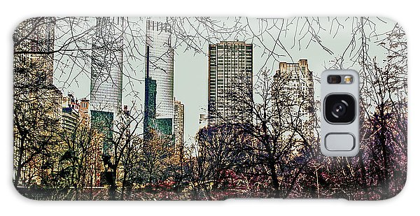 City View From Park Galaxy Case by Sandy Moulder