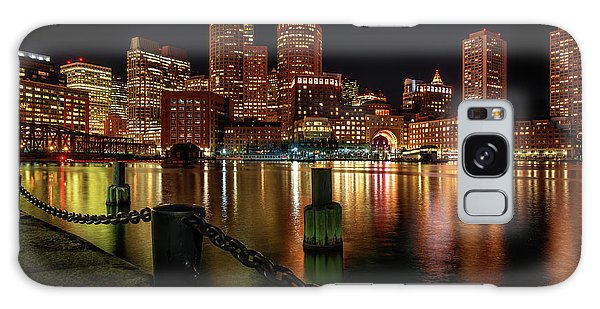 City With A Soul- Boston Harbor Galaxy Case