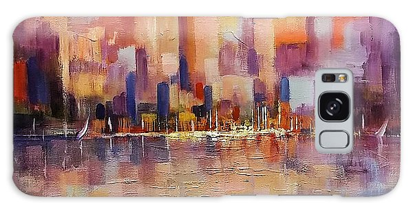 Galaxy Case featuring the painting Cityscape 2 by Rosario Piazza