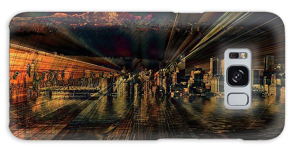 Cityscape Galaxy Case by Elaine Hunter