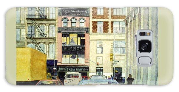 Galaxy Case featuring the painting Cityscape by Karen Zuk Rosenblatt