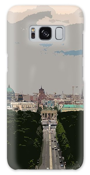 Cityscape Of Berlin - Painting Effect Galaxy Case