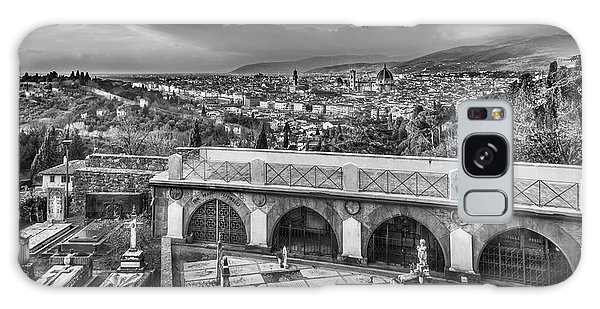 Cityscape Of Florence And Cemetery Galaxy Case by Sonny Marcyan