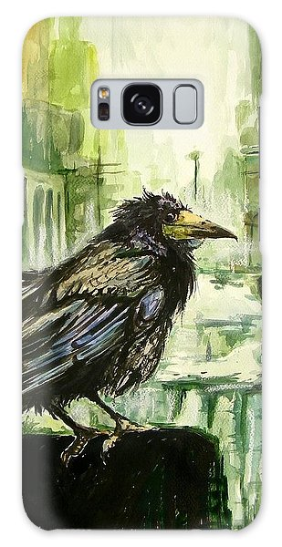 The Eagles Galaxy Case - Cityscape With A Crow by Suzann Sines