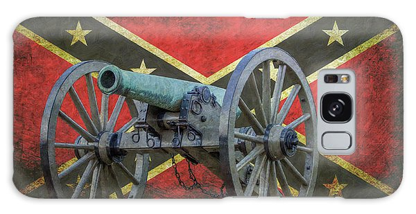 Civil War Cannon Rebel Flag Galaxy Case
