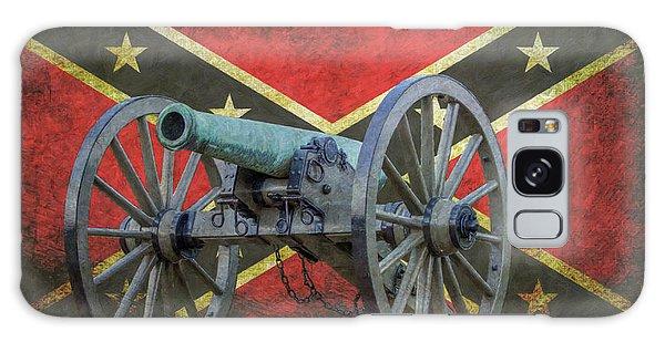 Civil War Cannon Rebel Flag Galaxy Case