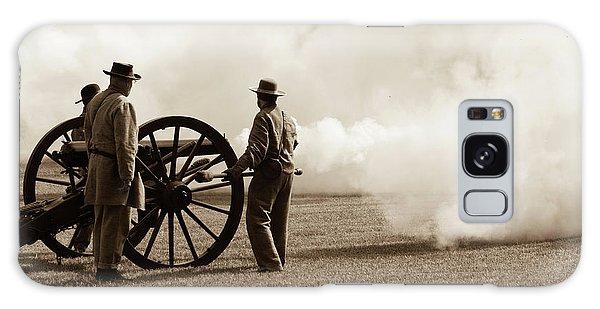 Galaxy Case featuring the photograph Civil War Era Cannon Firing  by Doug Camara