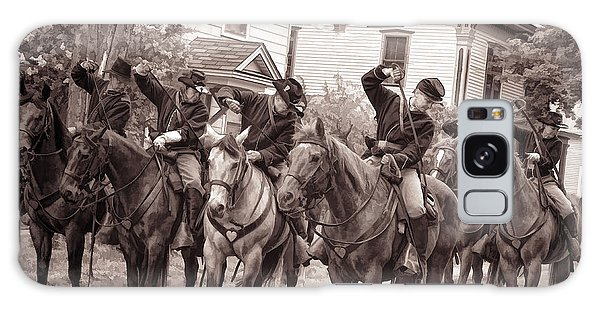 Civil War Soldiers On Horses Galaxy Case