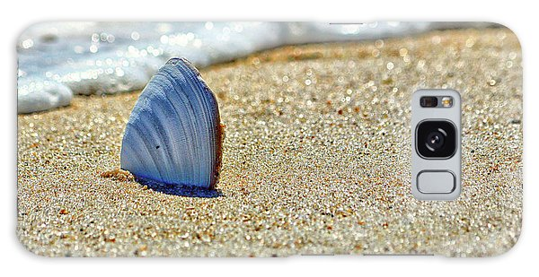 Clamshell In The Waves On Assateague Island Galaxy Case