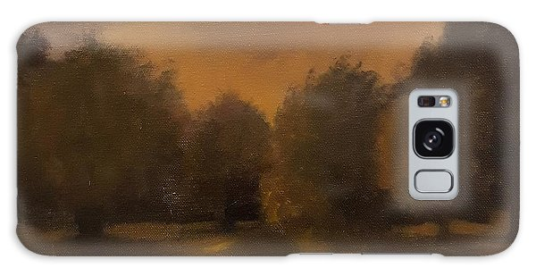 Clapham Common At Dusk Galaxy Case by Genevieve Brown