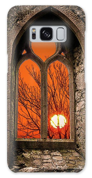 Galaxy Case featuring the photograph Clare Abbey Sunrise by James Truett