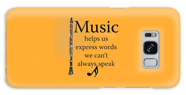 Clarinet Music Expresses Words Galaxy Case