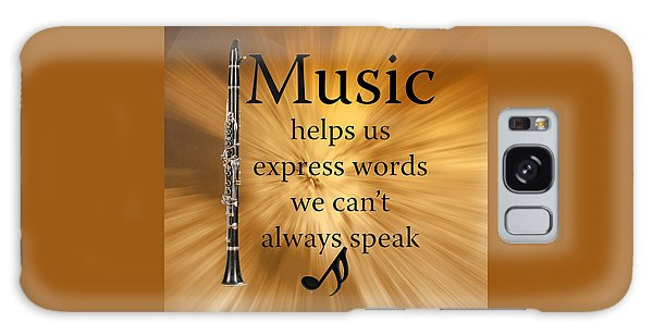 Clarinets Expresses Words Galaxy Case