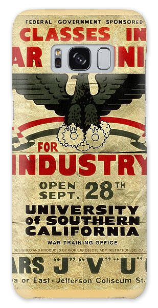 Classes In War Training For Industry - Vintage Poster Folded Galaxy Case
