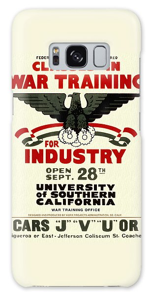Classes In War Training For Industry - Vintage Poster Restored Galaxy Case