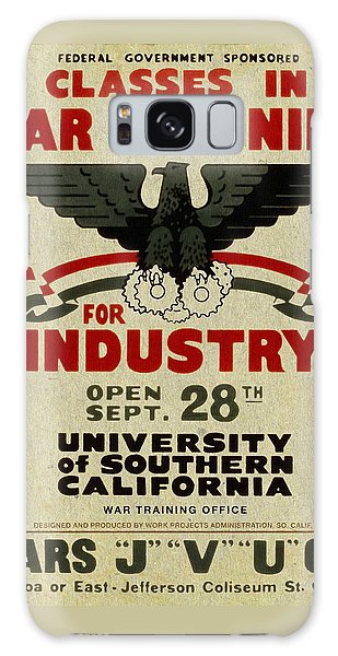 Classes In War Training For Industry - Vintage Poster Vintagelized Galaxy Case