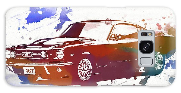 Classic Ford Mustang Watercolor Splash Galaxy Case by Dan Sproul