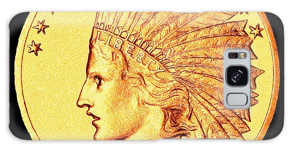 Indian Head Galaxy Case - Classic Indian Head Gold by Jim Carrell