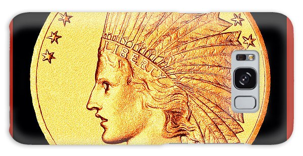 Classic Indian Head Gold Galaxy Case by Jim Carrell