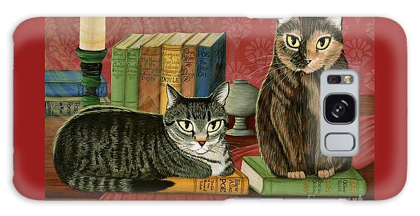 Classic Literary Cats Galaxy Case by Carrie Hawks