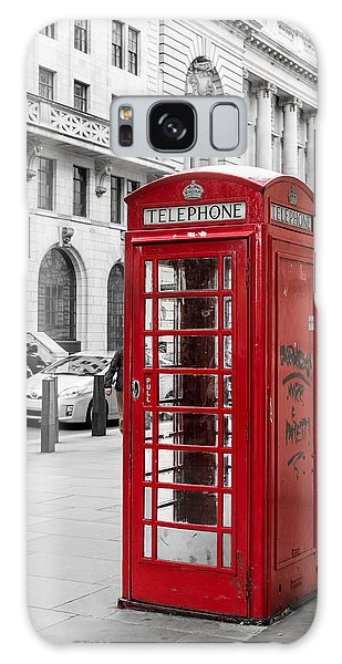 Red Telephone Box In London England Galaxy Case by John Williams