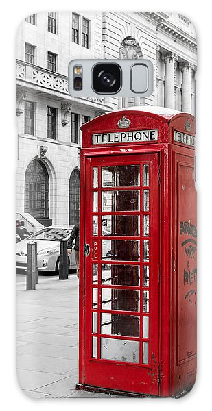 Red Telephone Box In London England Galaxy Case