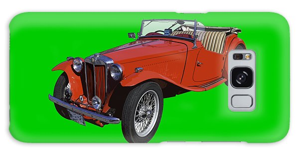 Classic Red Mg Tc Convertible British Sports Car Galaxy Case by Keith Webber Jr