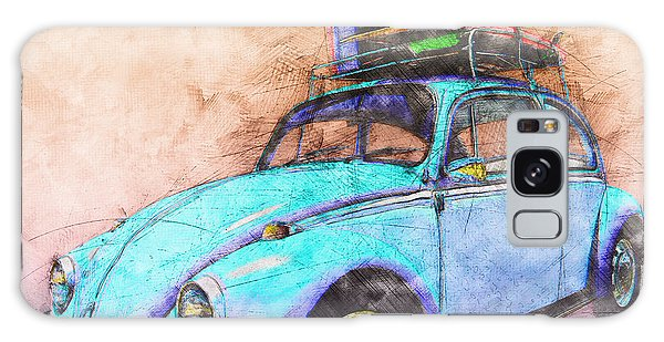 Classic Road Trip Ride Watercolour Sketch Galaxy Case