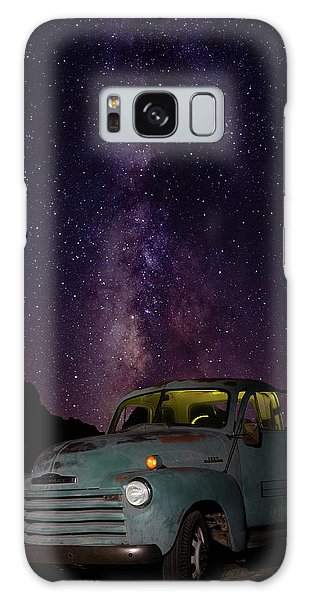 Galaxy Case featuring the photograph Classic Truck Under The Milky Way by James Sage