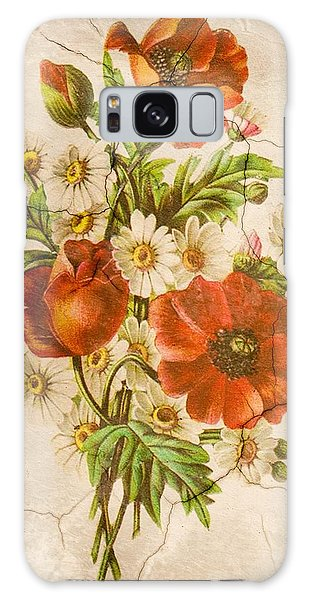 Classic Vintage Shabby Chic Rustic Poppy Bouquet Galaxy Case