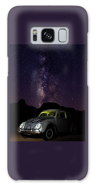 Galaxy Case featuring the photograph Classic Vw Bug Under The Milky Way by James Sage