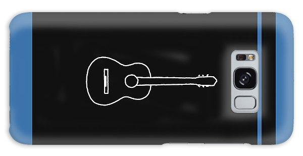 Classical Guitar In Blue Galaxy Case