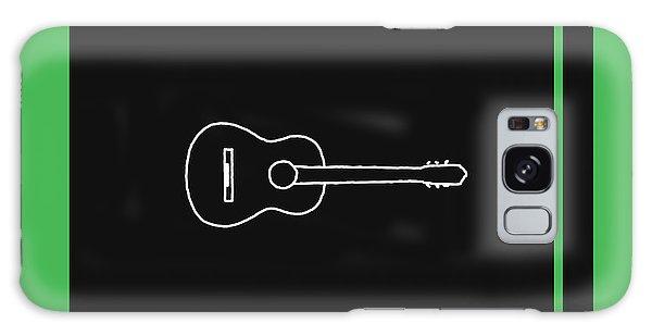 Classical Guitar In Green Galaxy Case