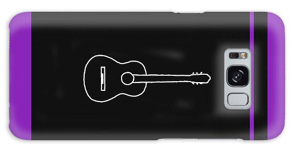 Classical Guitar In Purple Galaxy Case