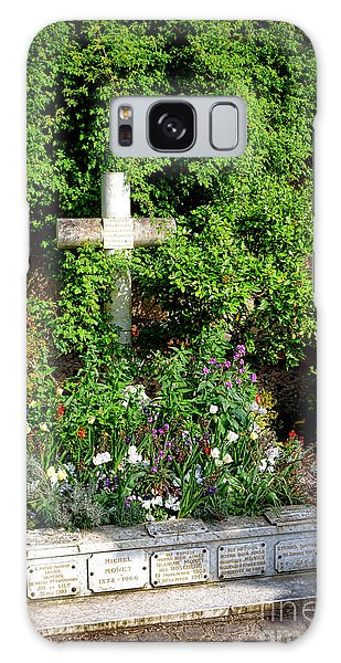 Claude Monet Grave In Giverny Galaxy Case by Olivier Le Queinec