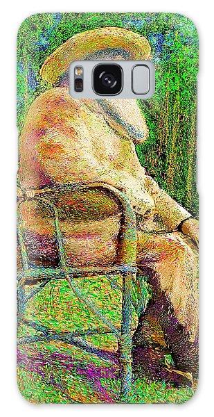Claude Monet In His Garden Galaxy Case by Hidden Mountain