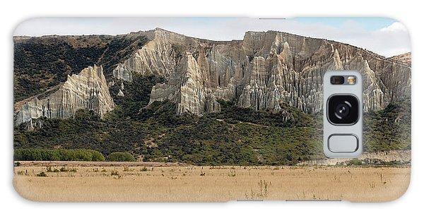 Galaxy Case featuring the photograph Clay Cliffs Omarama by Gary Eason