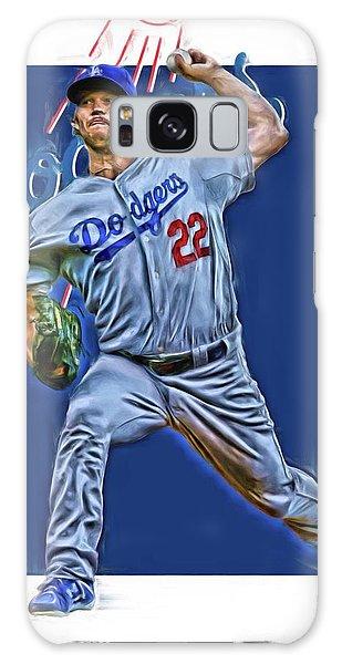 Los Angeles Dodgers Galaxy S8 Case - Clayton Kershaw Los Angeles Dodgers Oil Art by Joe Hamilton