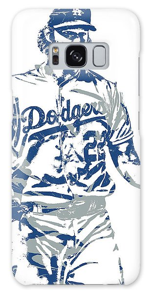 Clayton Galaxy Case - Clayton Kershaw Los Angeles Dodgers Pixel Art 10 by Joe Hamilton