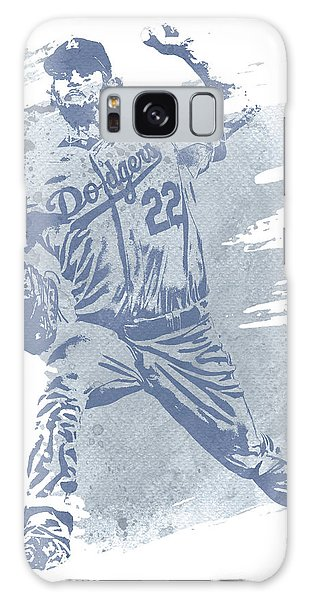 Clayton Galaxy Case - Clayton Kershaw Los Angeles Dodgers Water Color Art 1 by Joe Hamilton