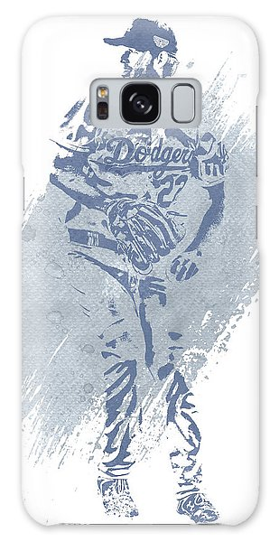 Clayton Galaxy Case - Clayton Kershaw Los Angeles Dodgers Water Color Art 2 by Joe Hamilton
