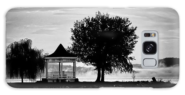 Claytor Lake Gazebo - Black And White Galaxy Case