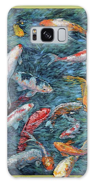 Clear Creek Koi With Painted On Mat Galaxy Case